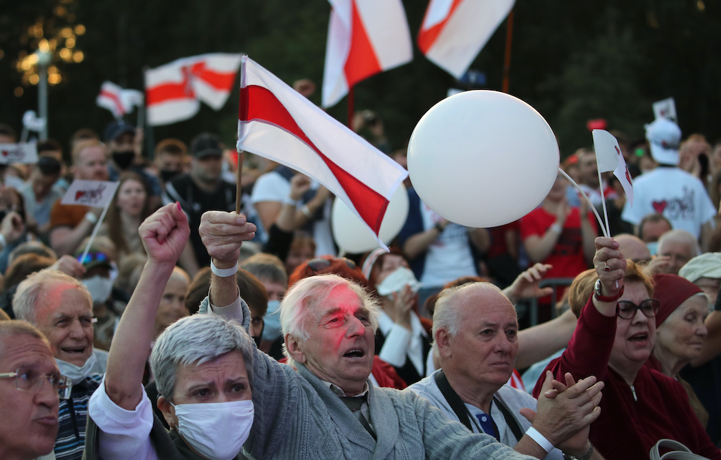 Митинг в Минске 30 июля 2020 года (Фото: EPA)
