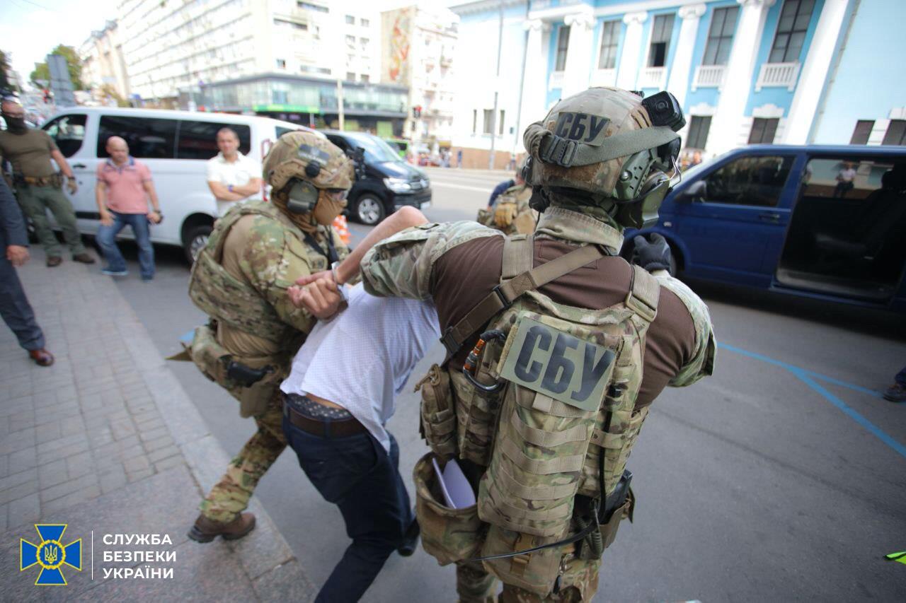 СБУ задержала террориста, захватившего отделение банка в Киеве