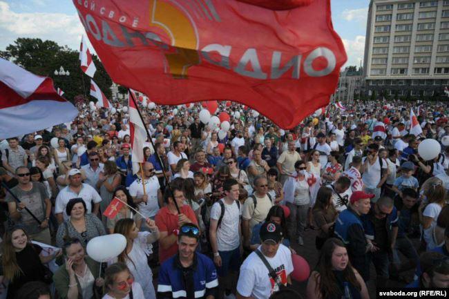 В Гродно 17 августа прошла акция протеста