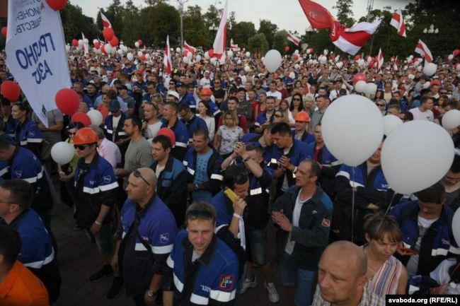Протесты в Гродно 17 августа
