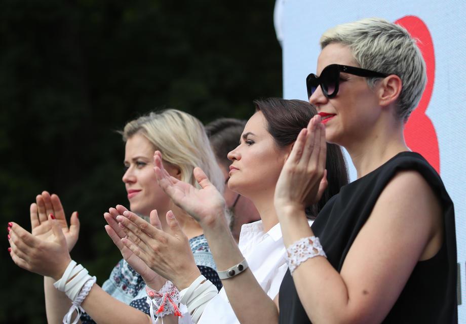 «Женский триумвират» - Вероника Цепкало, Светлана Тихановская и Мария Колесникова (слева-направо), фото: TATYANA ZENKOVICH / EPA.eu