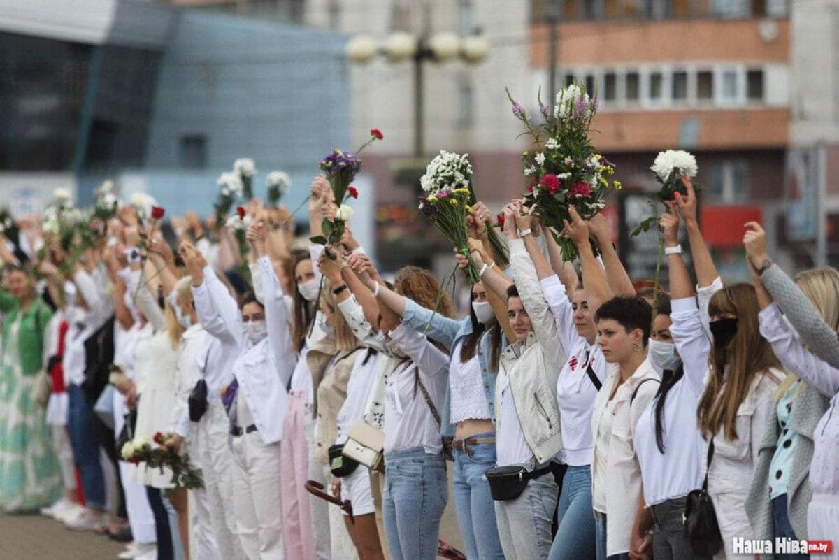 Женские мирные протесты, фото: Наша Ніва