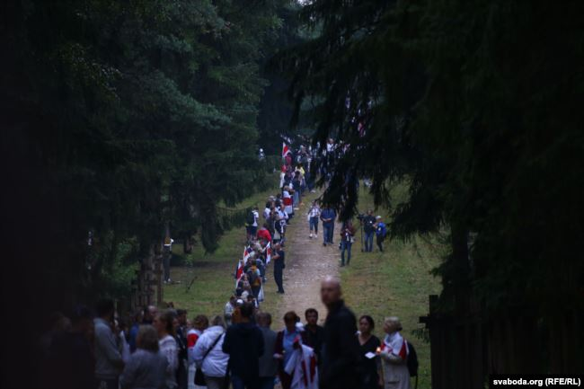 Акция Цепь покаяния в Минске 21 августа