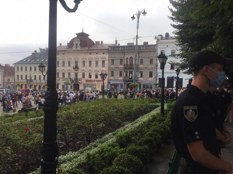 Акция протеста в Черновцах 25 августа