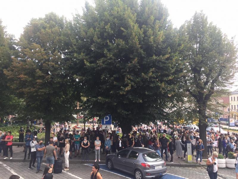 Акция протеста предпринимателей в Черновцах