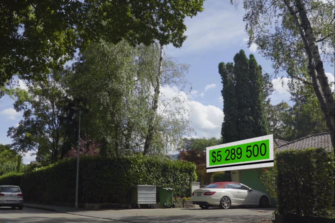 Квартира родственников супруга Ларисы Черток в Швейцарии. Скриншот из фильма Зірвати банк, Слідство.info