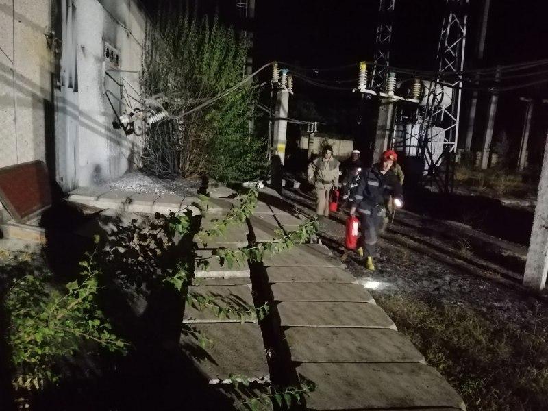 Cпасатели на территории Одесского НПЗ