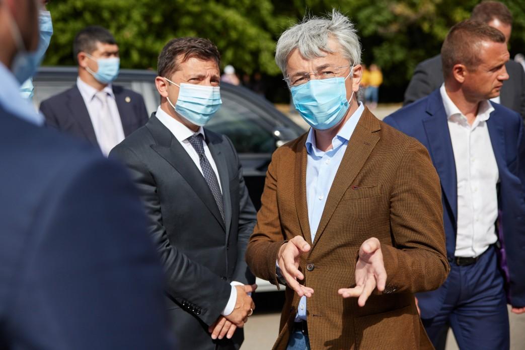 Владимир Зеленский и Александр Ткаченко (Фото: пресс-служба президента)
