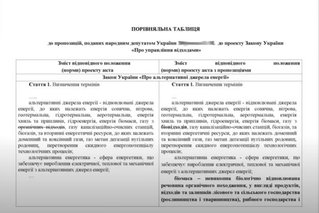 Сравнительная таблица поправок лист 1 (скрин с видео)