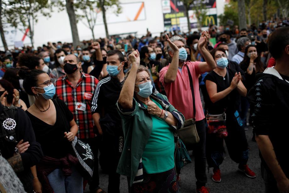 Коронавирус. Акции протеста в Испании