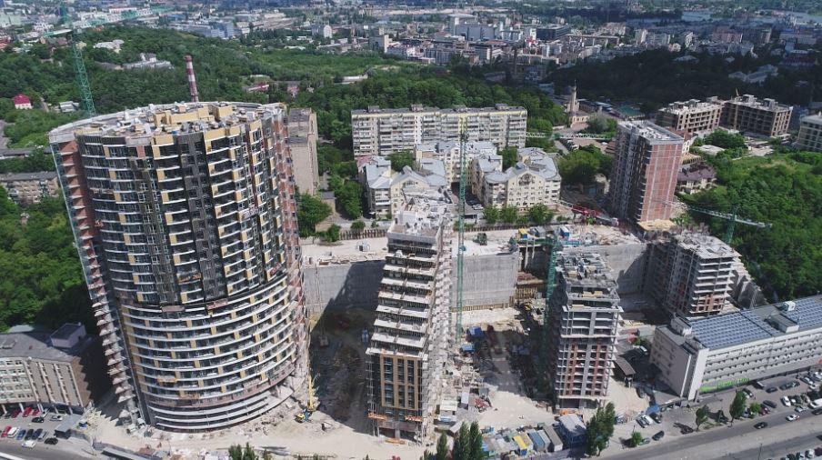 ЖК Mirax, ход строительства в июле 2020-го, фото: сайт Киевгорстроя