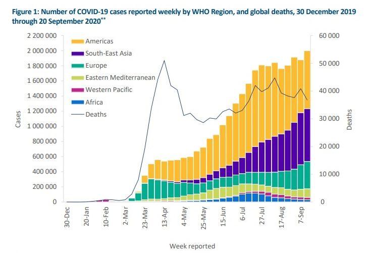 Дані ВООЗ за кількістю заражень коронавирусом (фото - who.in)