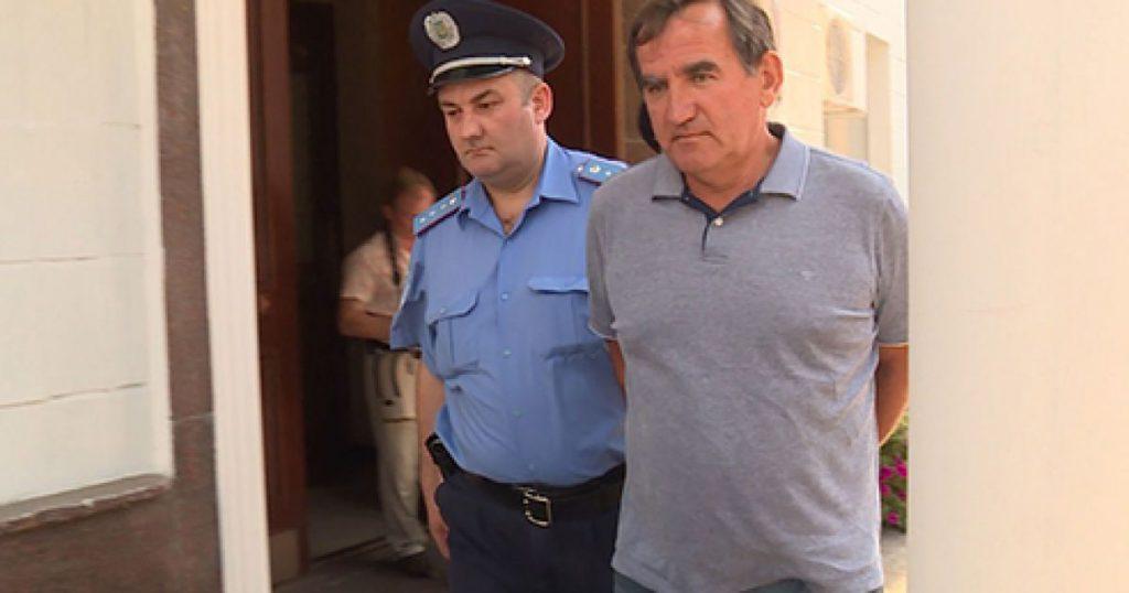 Задержание Анатолия Войцеховского, скриншот из видео ТСН
