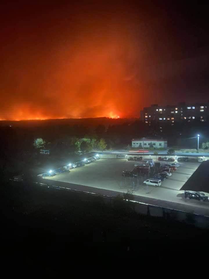 Пожары в Луганской области. Северодонецк (Фото: Facebook Ольги Лишик)