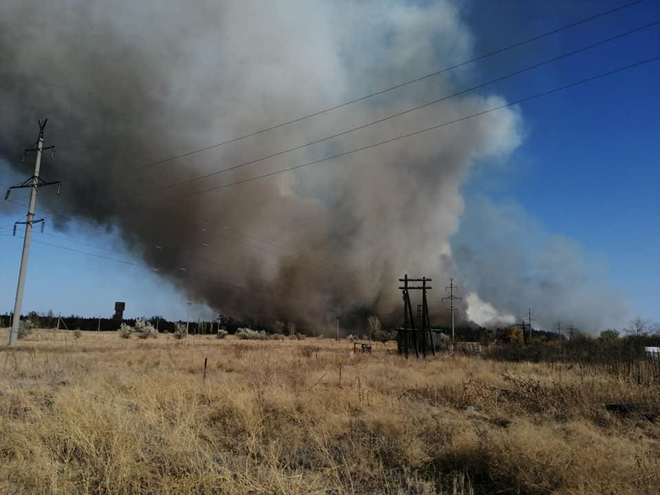 Пожар в Станично-Луганском районе