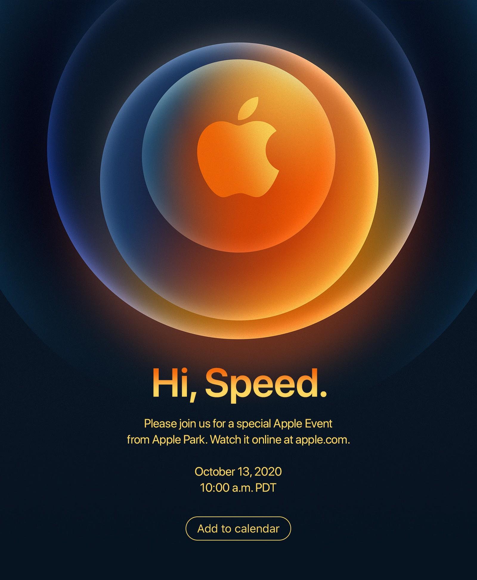 Приглашение для СМИ на презентацию Apple 13 октября