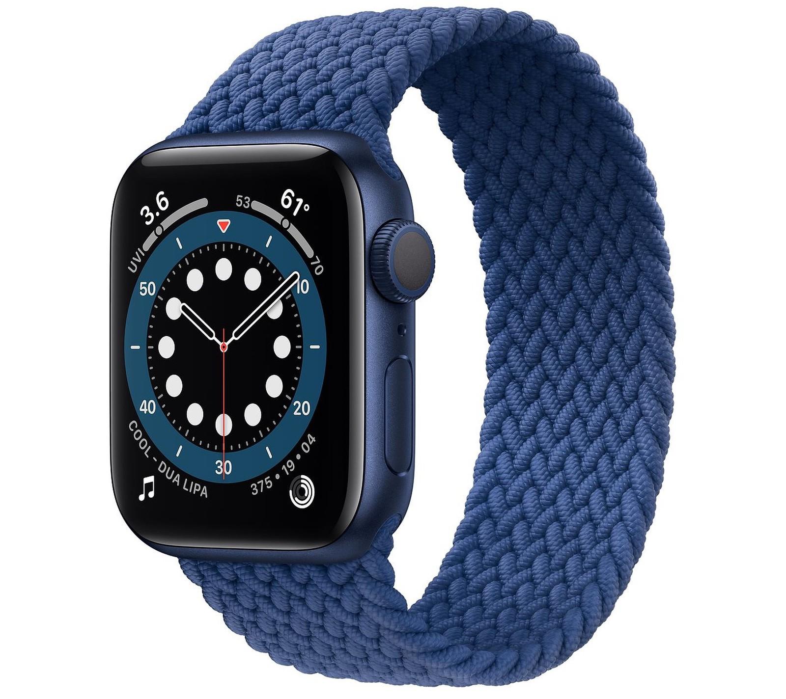 Apple Watch Seires 6 в темно-синем цвете