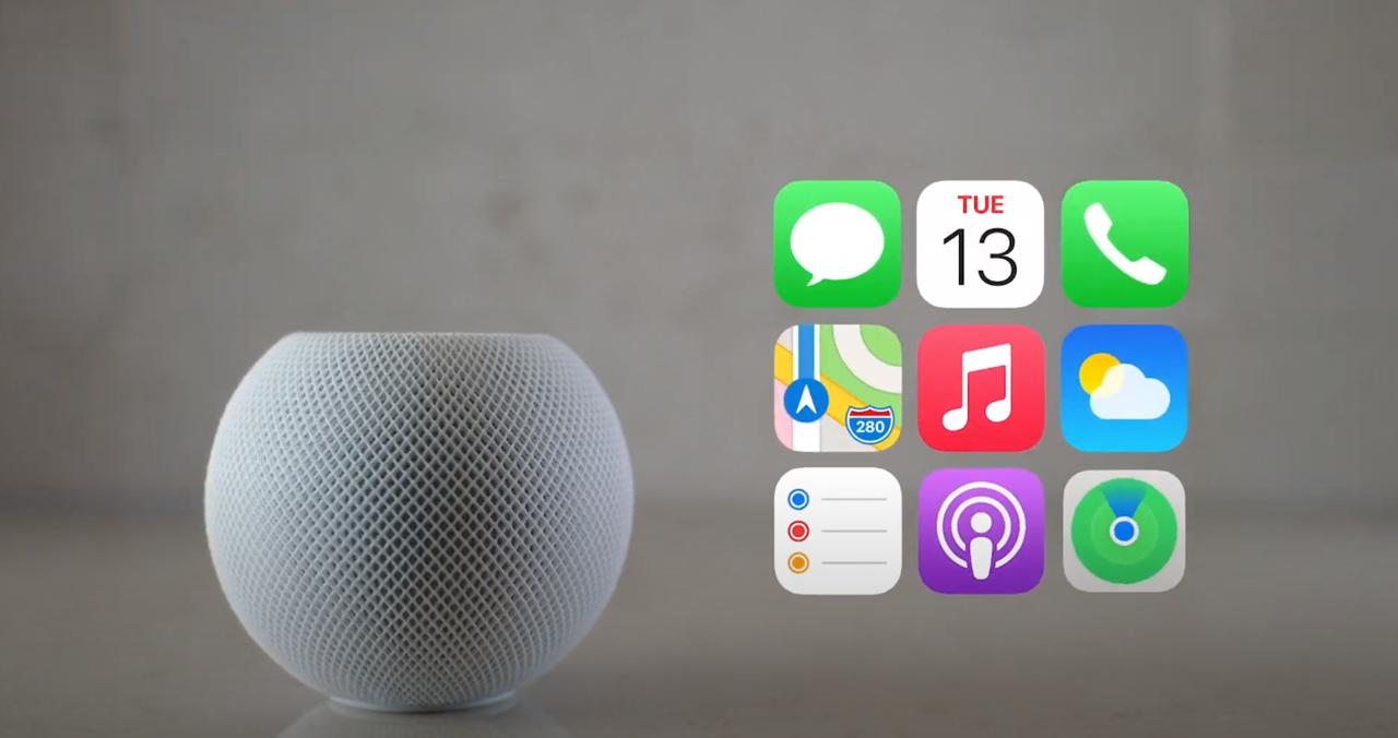 Apple HomePod mini. Скриншот из презентации Apple 13 октября