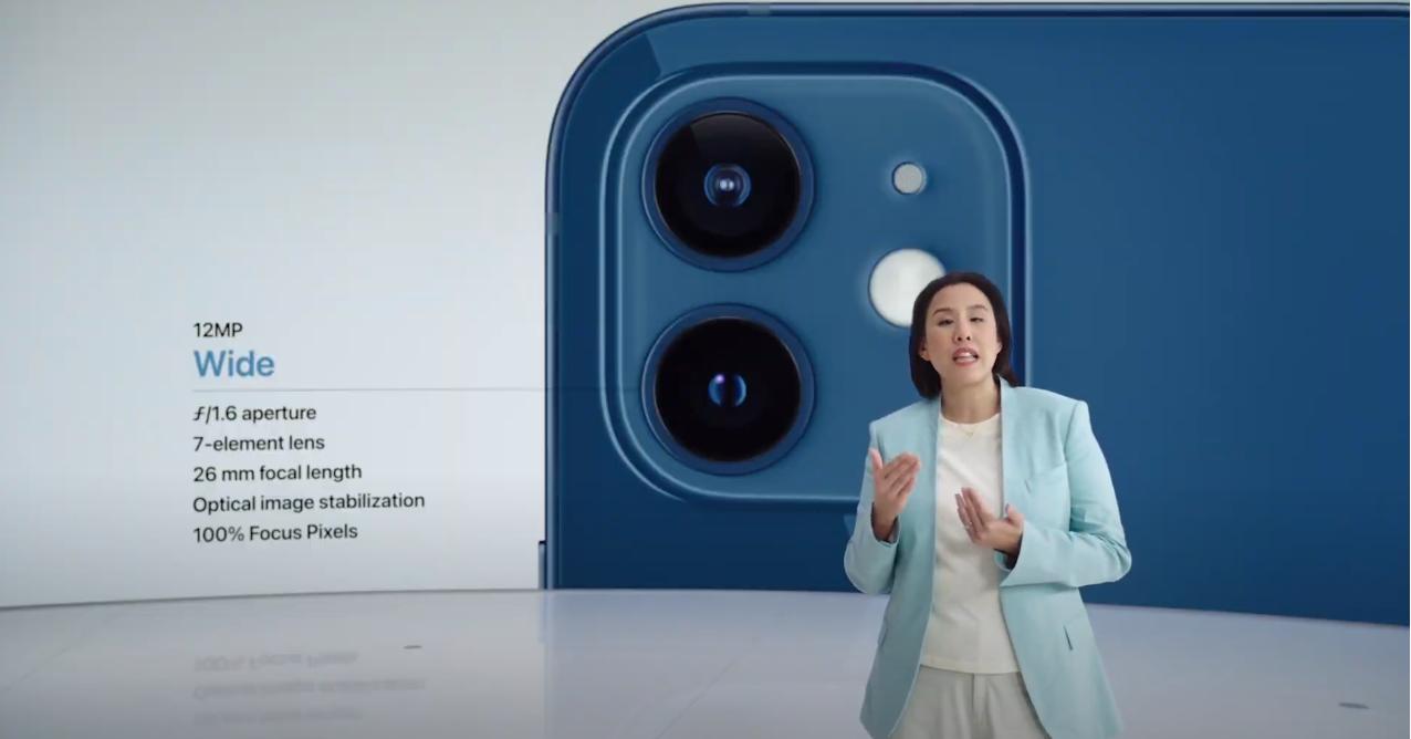 Улучшенная камера в iPhone 12. Скриншот из презентации Apple 13 октября