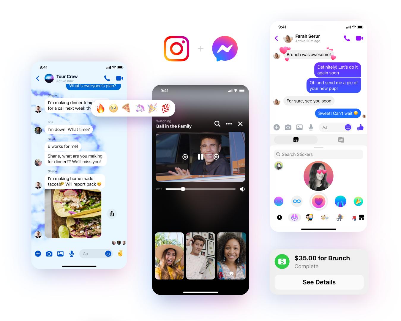Новые функции Messenger / Фото: Facebook