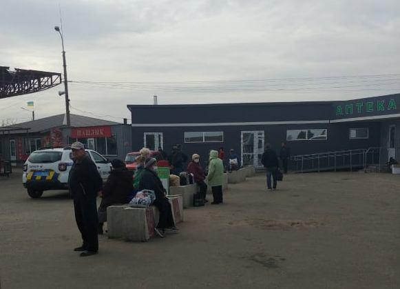 Ситуация на пункте пропуска Станица Луганская 23 октября
