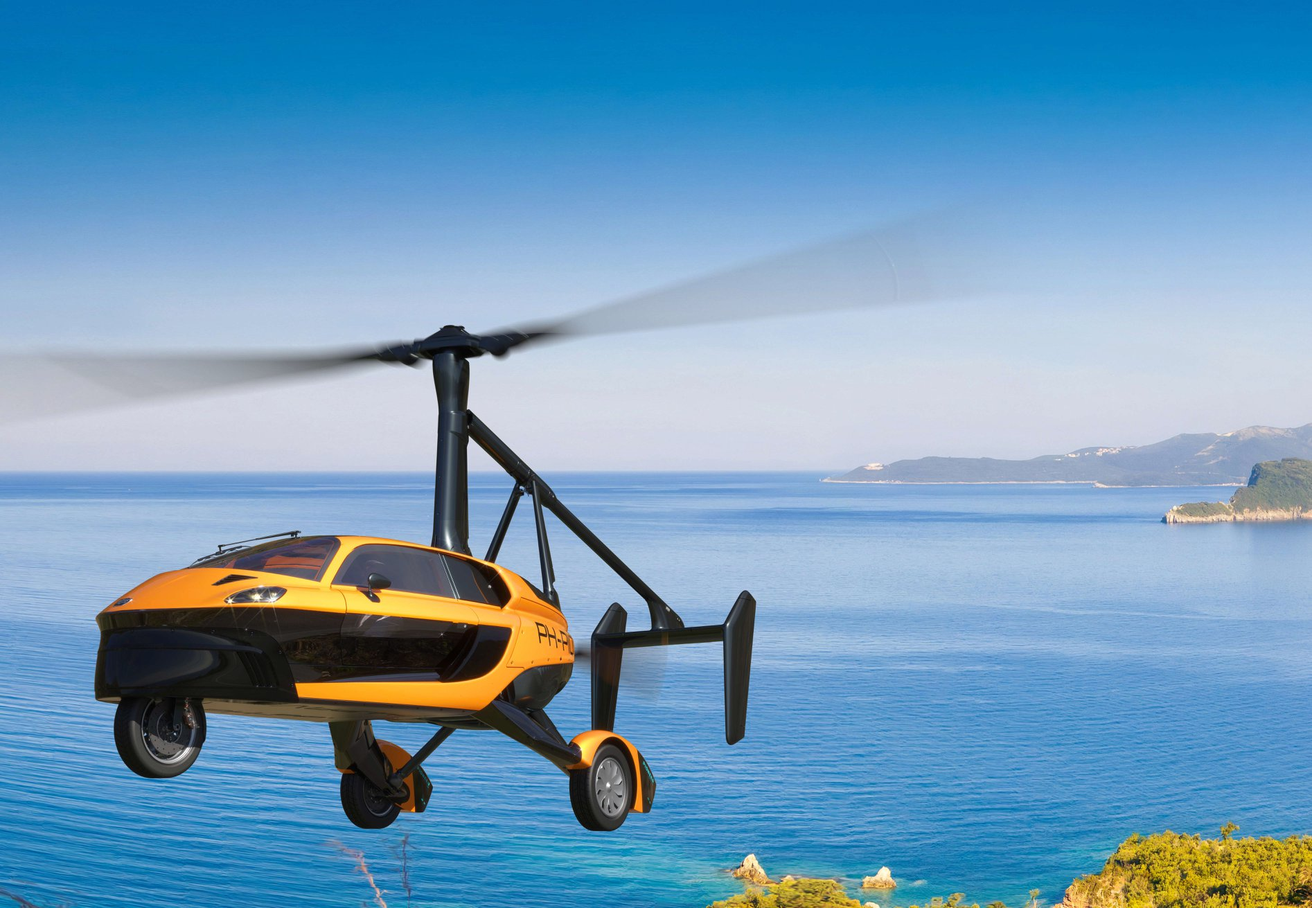 Голландский летающий автомобиль сертифицирован для езды по дорогам: видео, фото