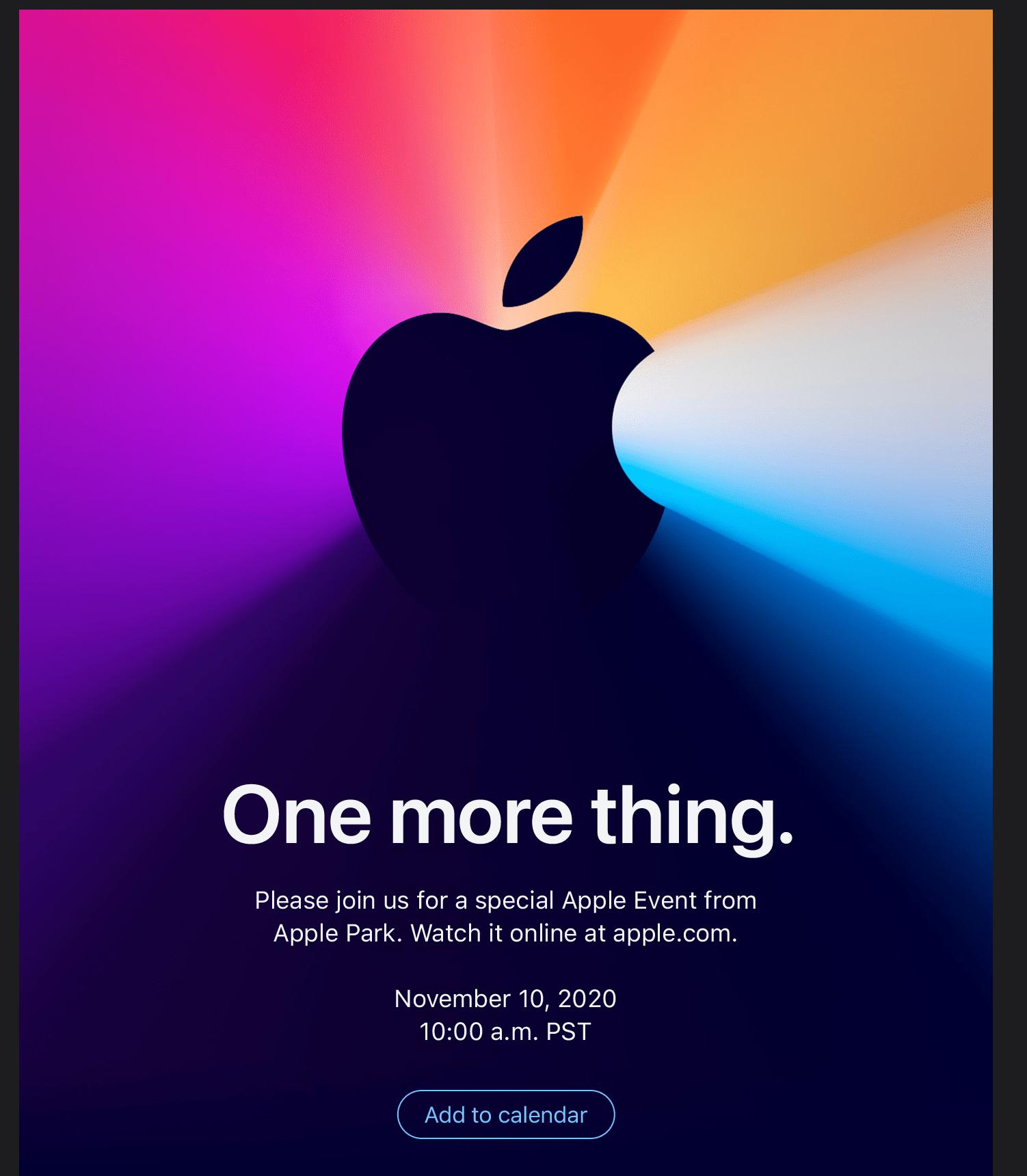 Приглашение Apple