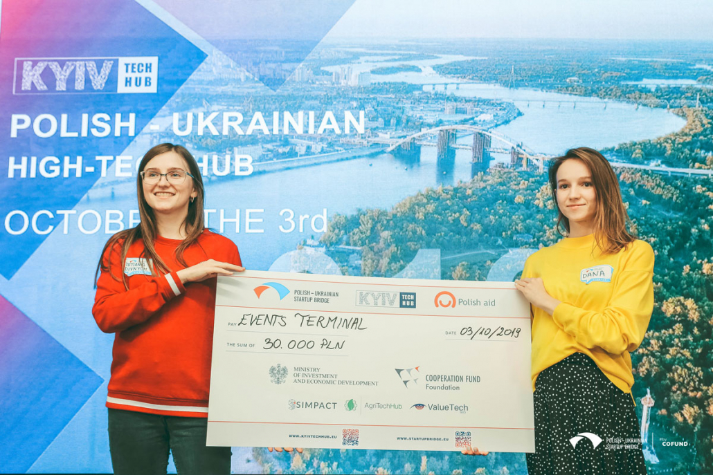 Победитель Kyiv Tech Hub 2019 стартап Events Terminal. Фото: Kyiv Tech Hub