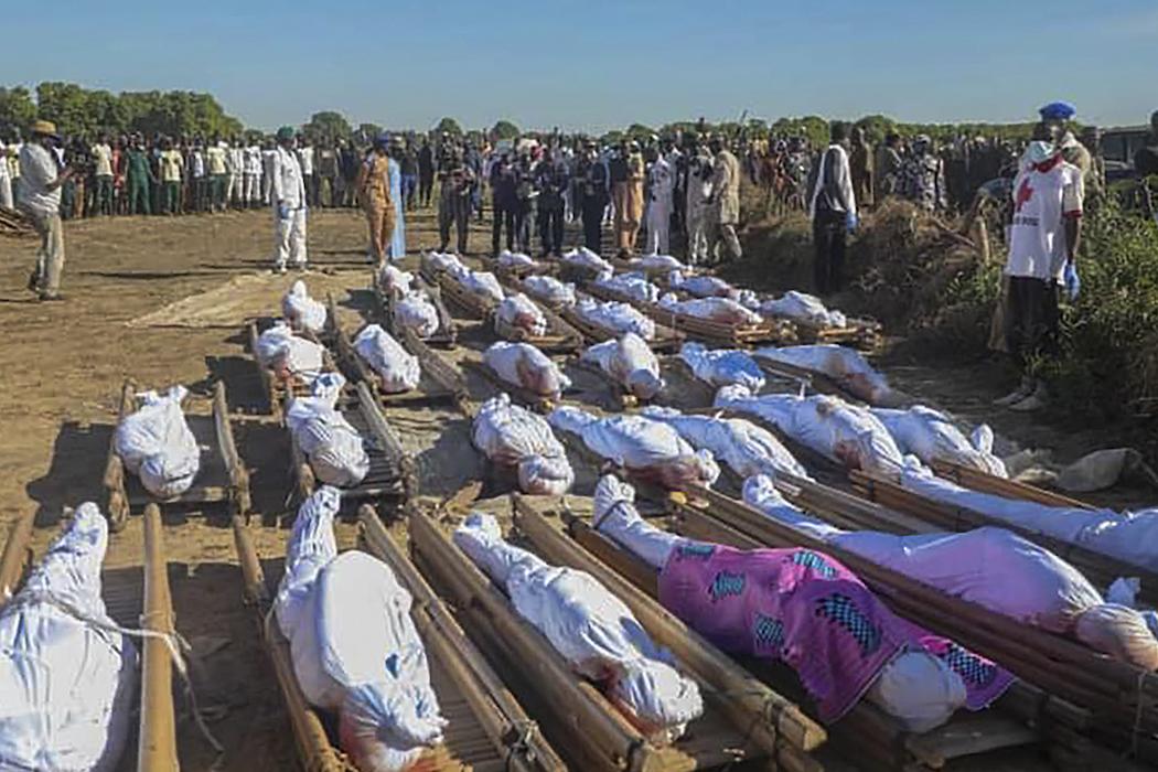 Погибшие 28 ноября в Нигерии (Фото: EPA-EFE/STR)