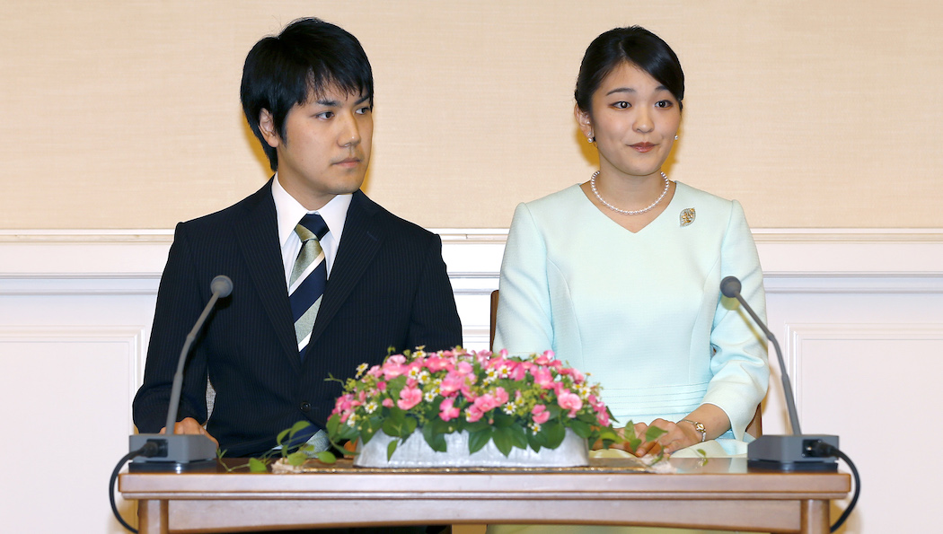 Принцесса Маки и Кеи Комуро в 2017 году (Фото: EPA-EFE/Shizuo Kambayashi)