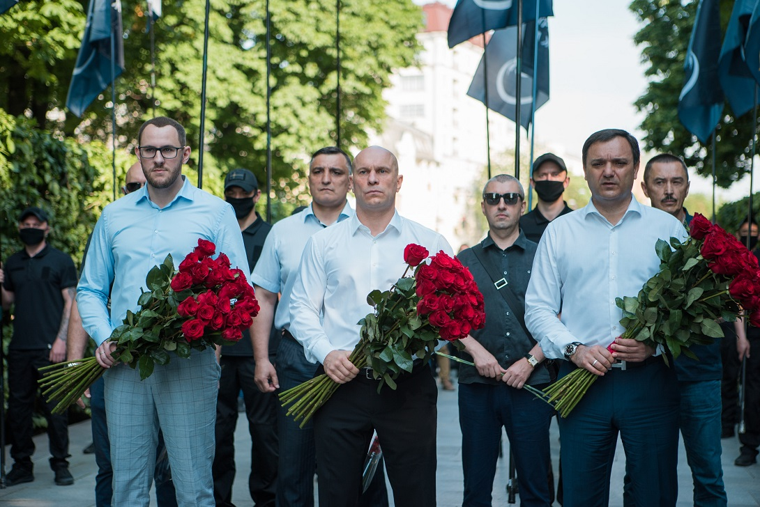 Артем Марчевский, Эльхан Велиев, Илья Кива и Виктор Черный (фото – пресс-служба ОПЗЖ)
