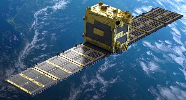 Спутник StriX-α на орбите (иллюстрация — Rocket Lab)