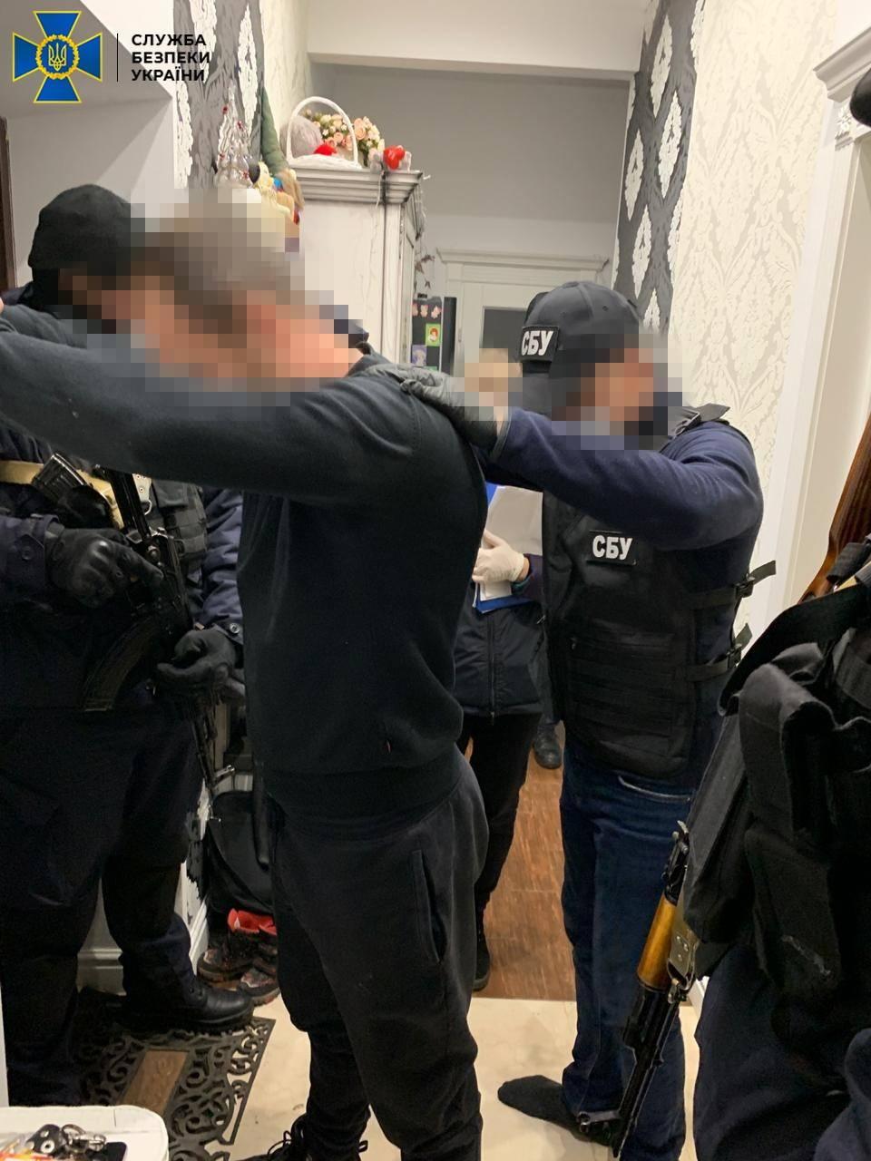 Задержание подозреваемых (Фото: пресс-служба СБУ)
