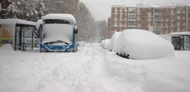 Снежное одеяло укрыло половину Испании и весь Мадрид: спутниковые фото