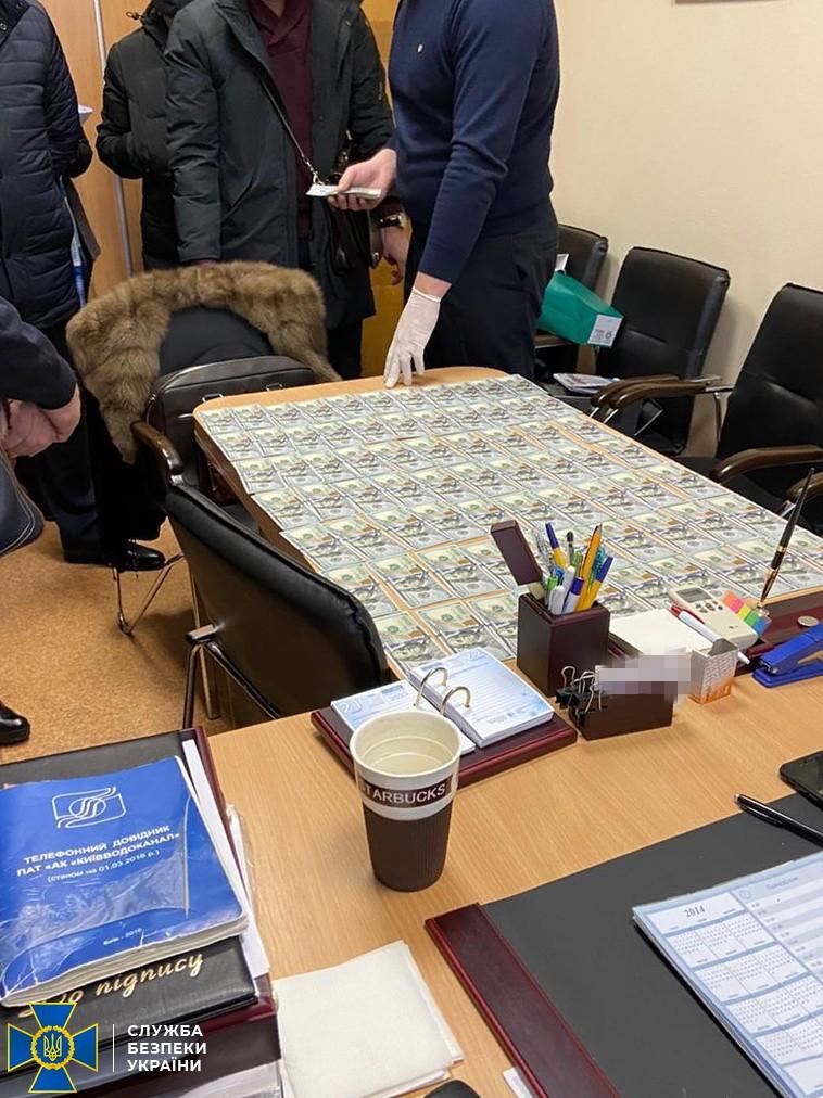 СБУ: На взятке задержан замначальника одного из департаментов Киевводоканала – фото, видео