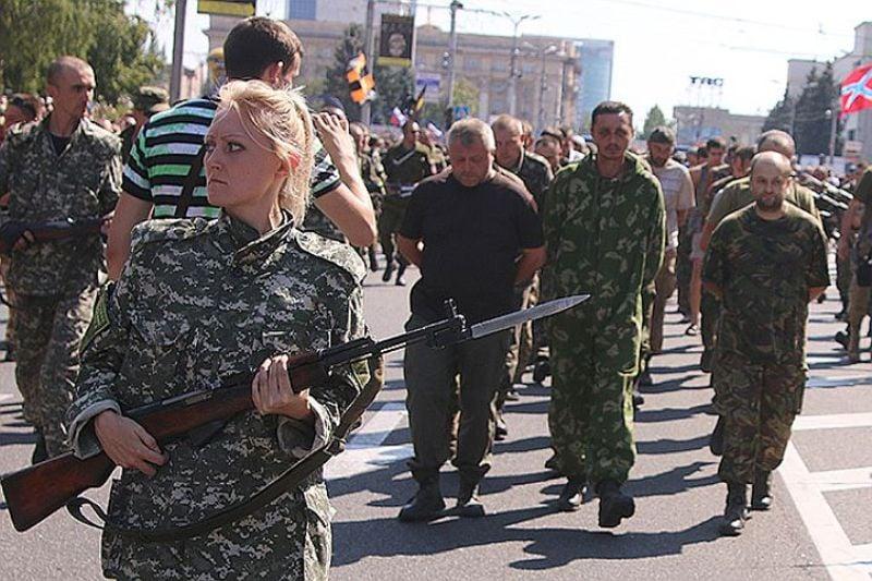 Боевик в Донецке (Фото: facebook.com/bilozerska)