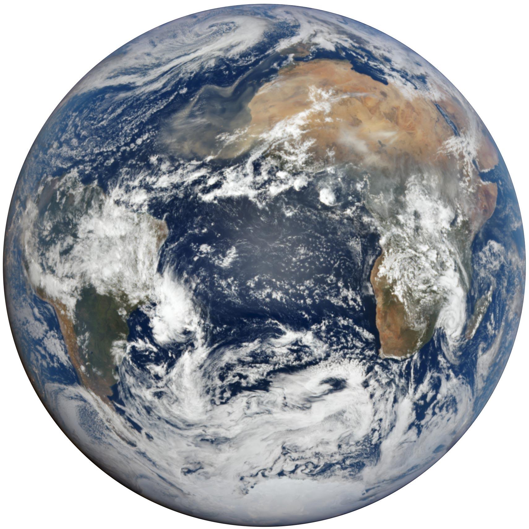 Пылевой шлейф из Сахары (Фото: NOAA)
