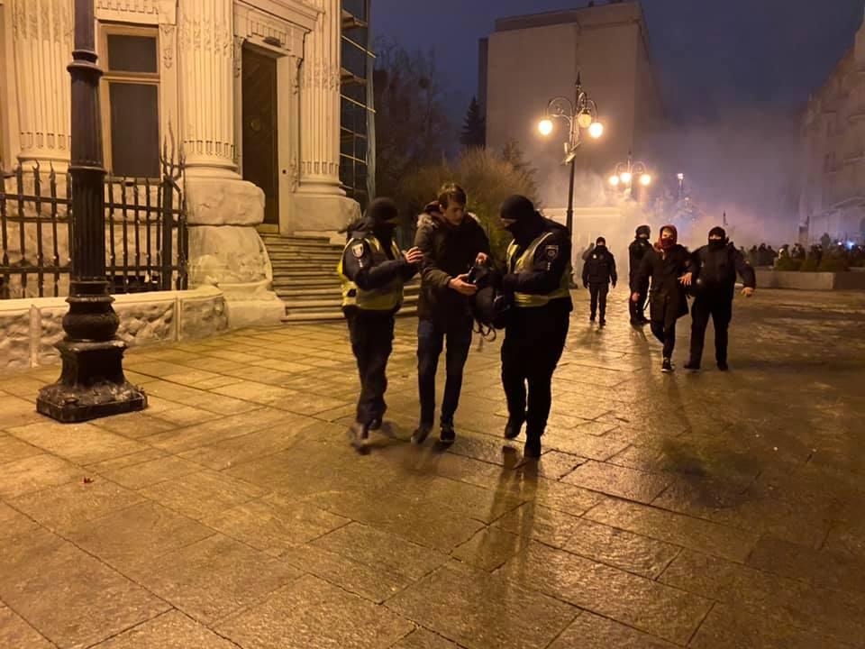Столкновения в Киеве на акции за Стерненко. Задержаны 17 человек, открыто дело