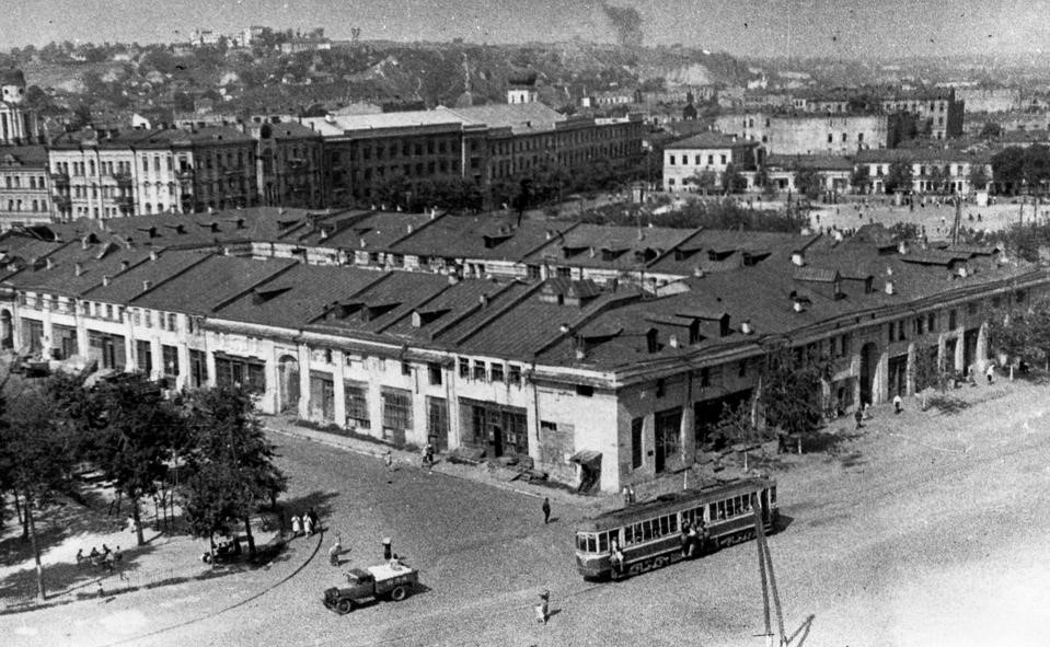 Гостиный двор, фото старого Киева, 1946 год, фото: retroua.com