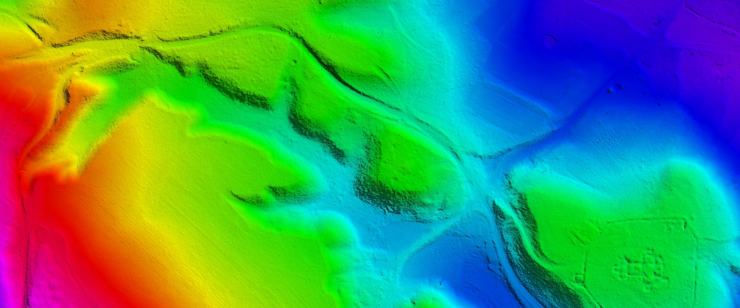 Рельеф местности после лидарного сканирования. (Изображение: пресс-служба Everscan)