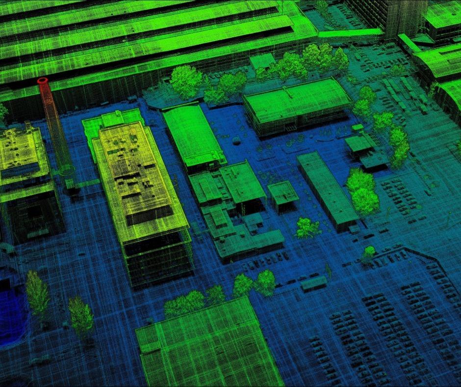 Unit City, лидарное сканирование. Изображение: Facebook-страница Everscan