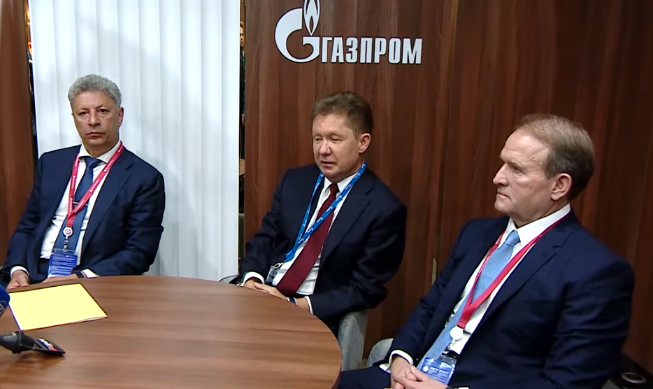 Юрий Бойко, Алексей Миллер и Виктор Медведчук (фото – пресс-служба ОПЗЖ)
