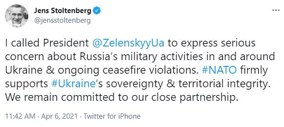 Зеленский Столтенбергу: НАТО – единственный путь к завершению войны на Донбассе