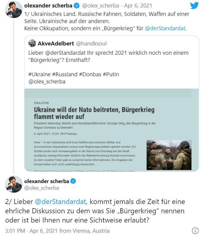 """Австрийская газета назвала войну на Донбассе """"гражданской"""". Посол Украины отреагировал"""