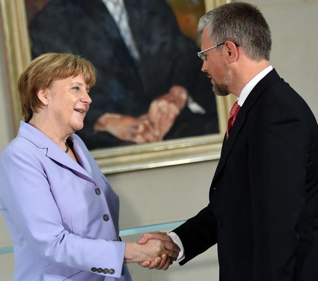 Ангела Меркель и Андрей Мельник (фото – ЕРА)