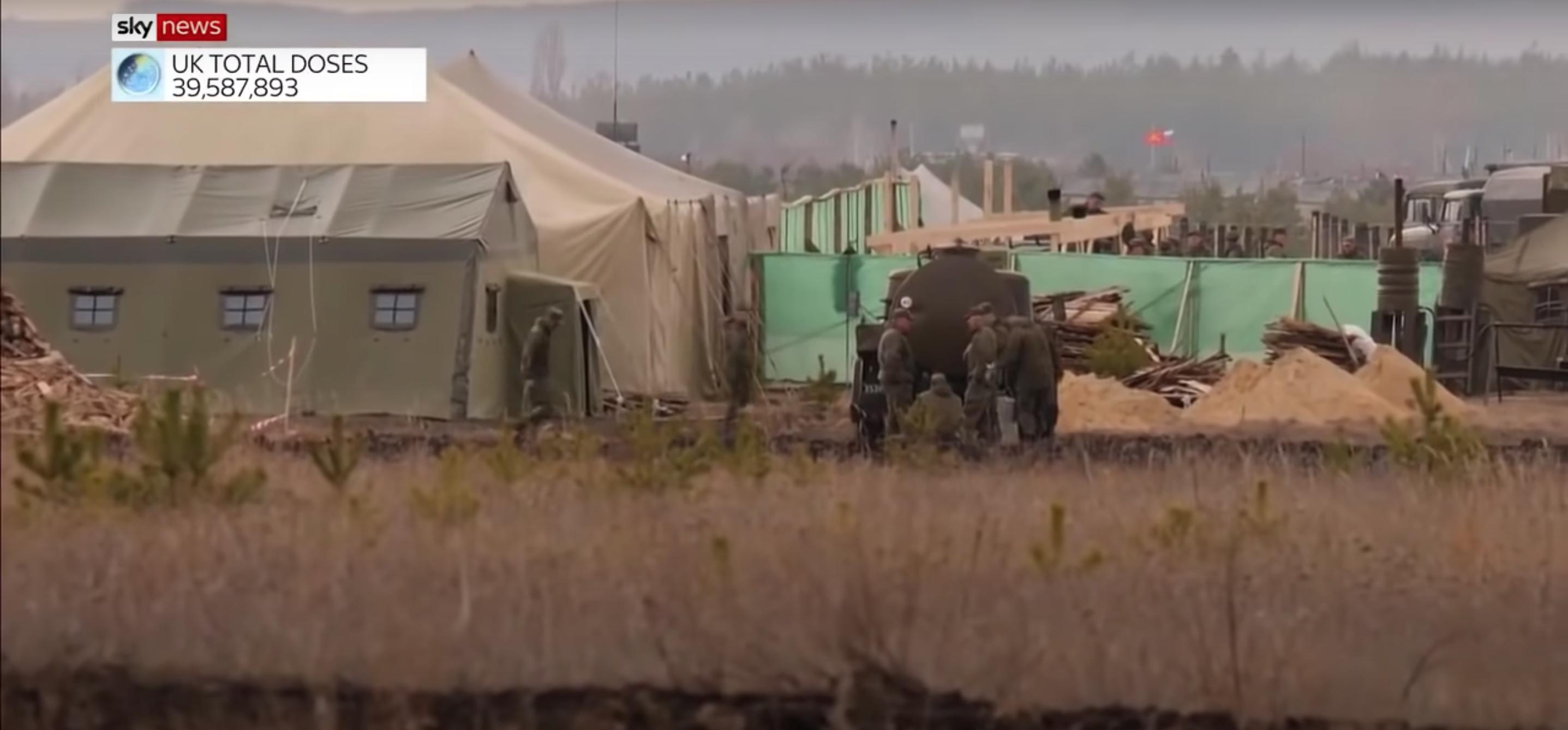 Журналісти Sky News зняли сюжет про новий російський військовий табір під Воронежем