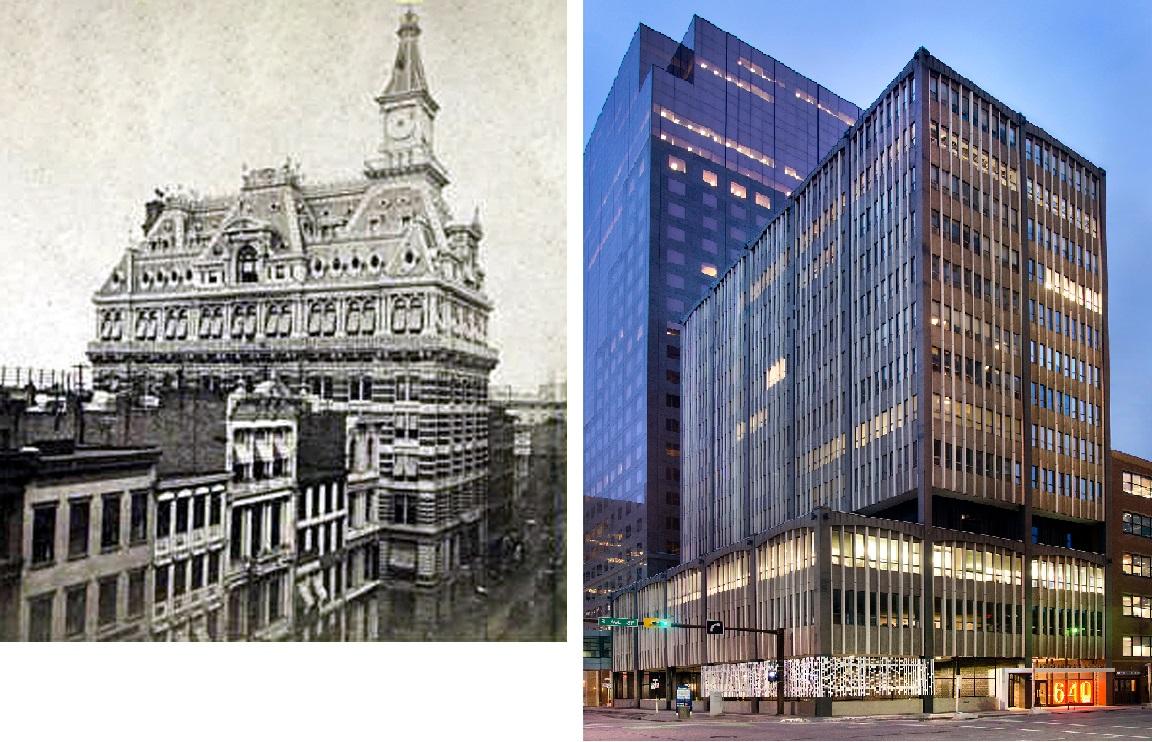 Western Union Telegraph Building, слева – фото 1875 г, справа – настоящее время, фото: EPA.com