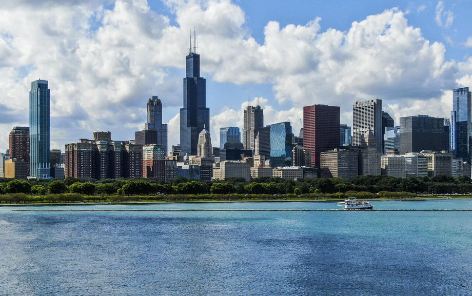 Чикаго, Willis Tower в центре самое высокое здание, фото: EPA.com