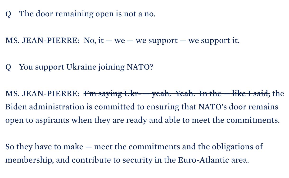 Білий дім відмовився від слів свого представника про підтримку вступу України в НАТО