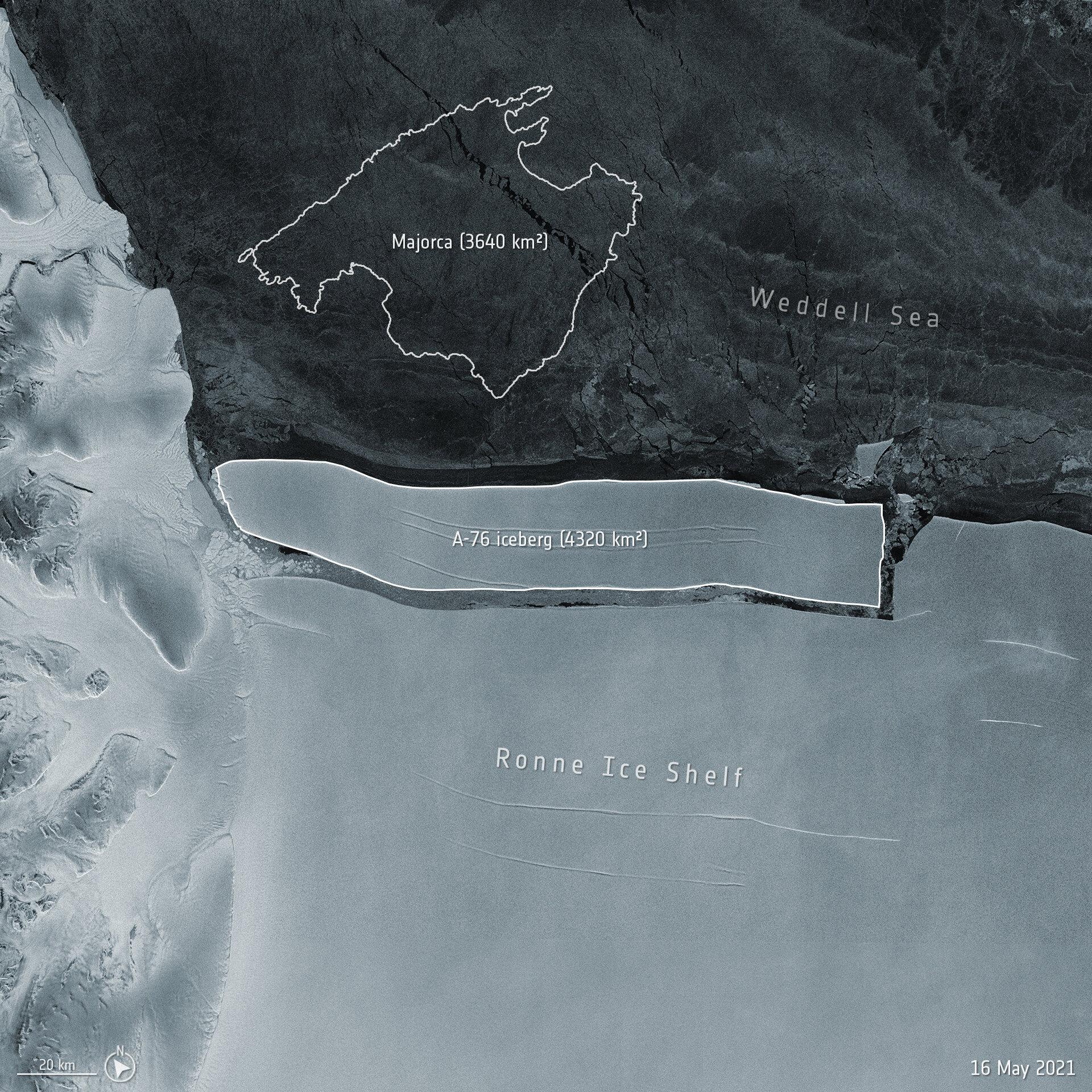 В мире появился новый самый большой айсберг – он по площади как пять Киевов: фото